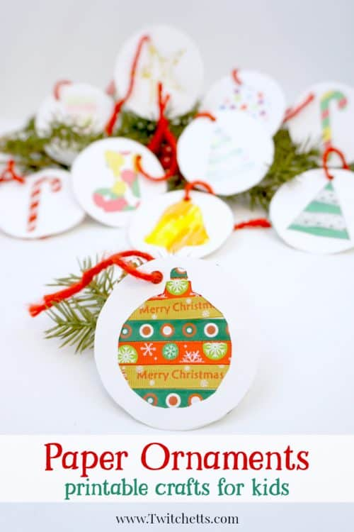 Our printable template makes adorable paper holiday ornaments. It's a great Christmas craft for kids that they'll be excited to create!