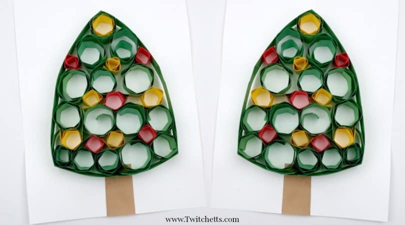 Quilling Christmas Tree ~ Paper Quilling for Kids