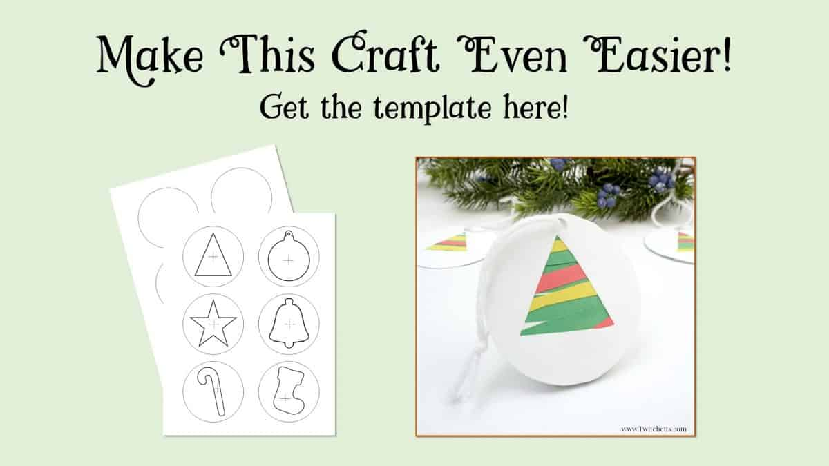 Easy Paper Christmas Tree Ornament ~ Christmas Craft for Kids ...