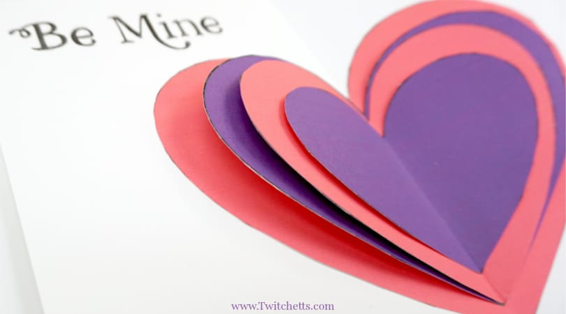 3D Valentine's Day Card ~ Homemade Valentine's Gifts from Kids