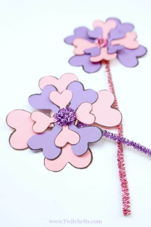 how to make easy paper flowers with construction paper