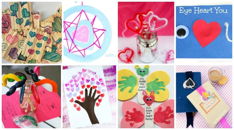 Homemade Valentine's Day Gifts that your kids will LOVE to create!