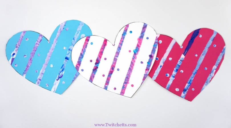 Painted Heart Paper Craft ~ Valentine's Day Crafts for Kids
