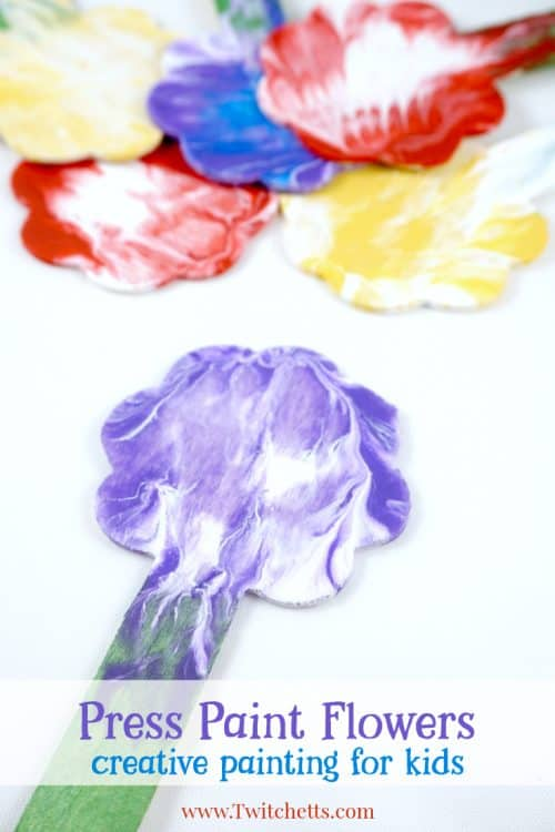Press Painted Flowers Creative Painting Ideas For Kids PIN 500x750