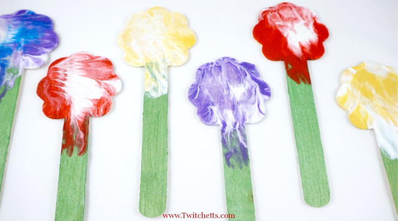 Press Painted Flowers ~ Creative Painting Ideas for Kids