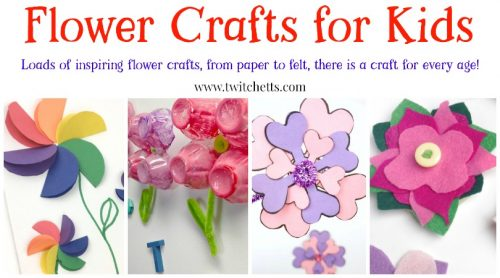 Flower crafts for kids ~ From paper flowers to felt, foil, egg cartons and more! Perfect for spring crafts, mothers day, and more!