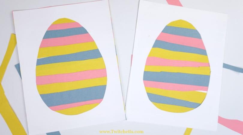 Paper Easter Egg ~ Easter Crafts for Kids