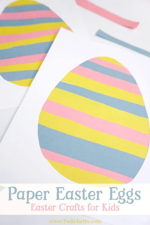 This simple paper Easter egg is the perfect craft for improving your child's scissor skills! From the classroom to the kitchen table, this Easter craft for kids is a fun and quick project.