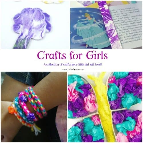 Crafts for Girls. Little girls will love this collection of beautiful arts and crafts projects. From lots of pink and tons of flowers, there is something for the girlie girl who loves the frills.