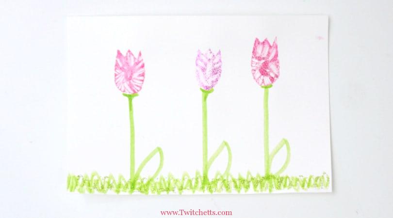 Mess-Free Glitter Flower ~ Art Projects For Kids