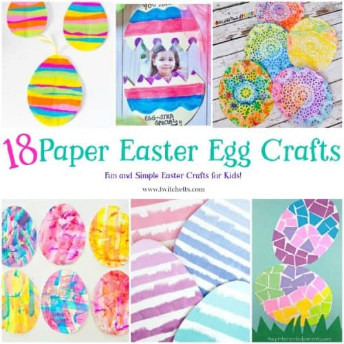Paper Easter Eggs. Create fun paper eggs that are perfect for a fun Easter craft for kids.