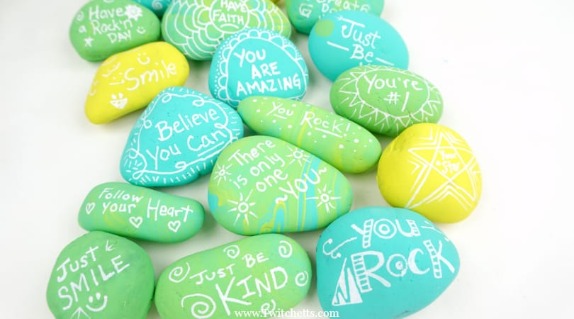 How to easily make kindness rocks with your kids.