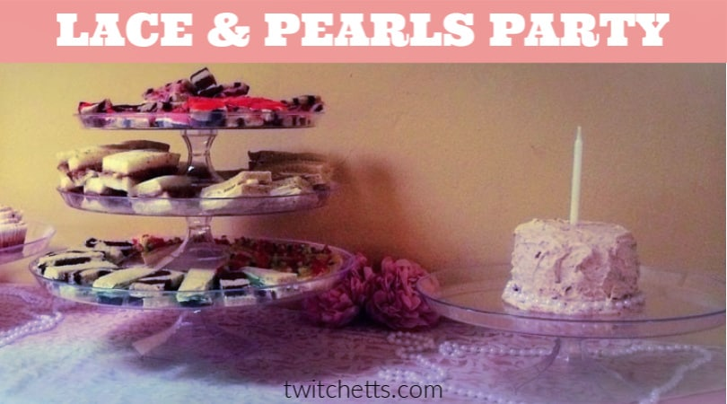 This lace and pearls themed party is perfect for a 1st birthday. What better way to celebrate you're little lady than with an elegant 1st birthday party that's easy to put together and will be remembered by your guests. #twitchetts