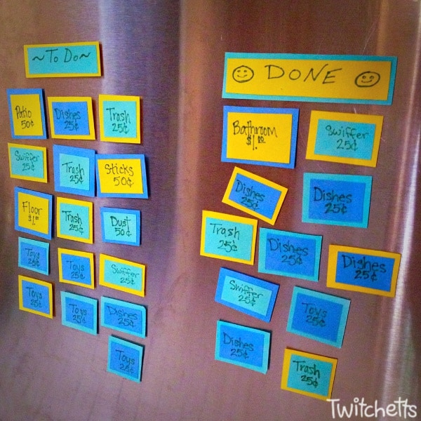 Create an easy to use childrens chore list.