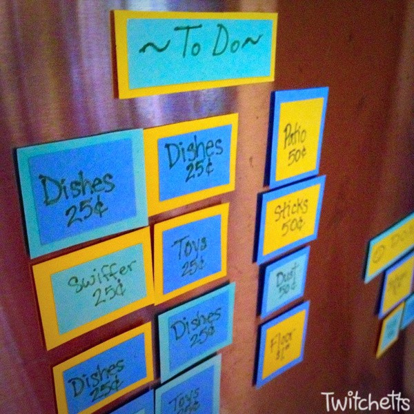 How to make a chore chart for a 6 year old.