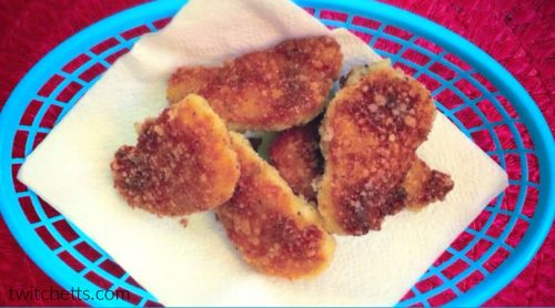 Easy panko fish nuggets for a kid approved 30 minute dinner idea.