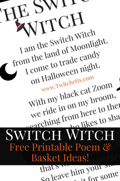 Start a new Halloween Tradition by adding this fun Switch Witch poem! This free printable is perfect for getting some of the extra candy out of your house.