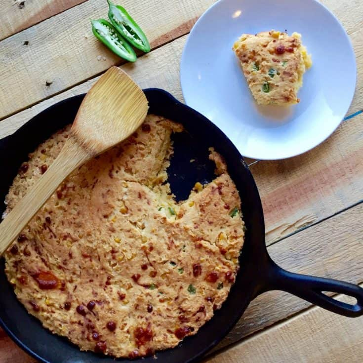 Sweet and Spicy Cornbread Casserole