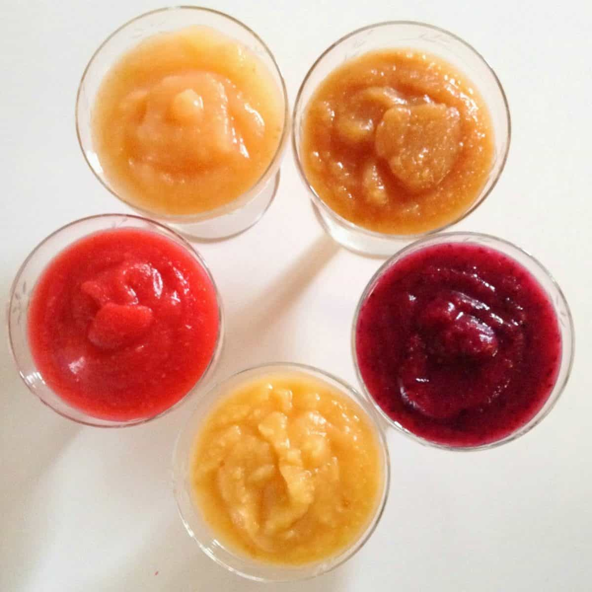 Cleaning out the Freezer… into Beautiful Flavored AppleSauce