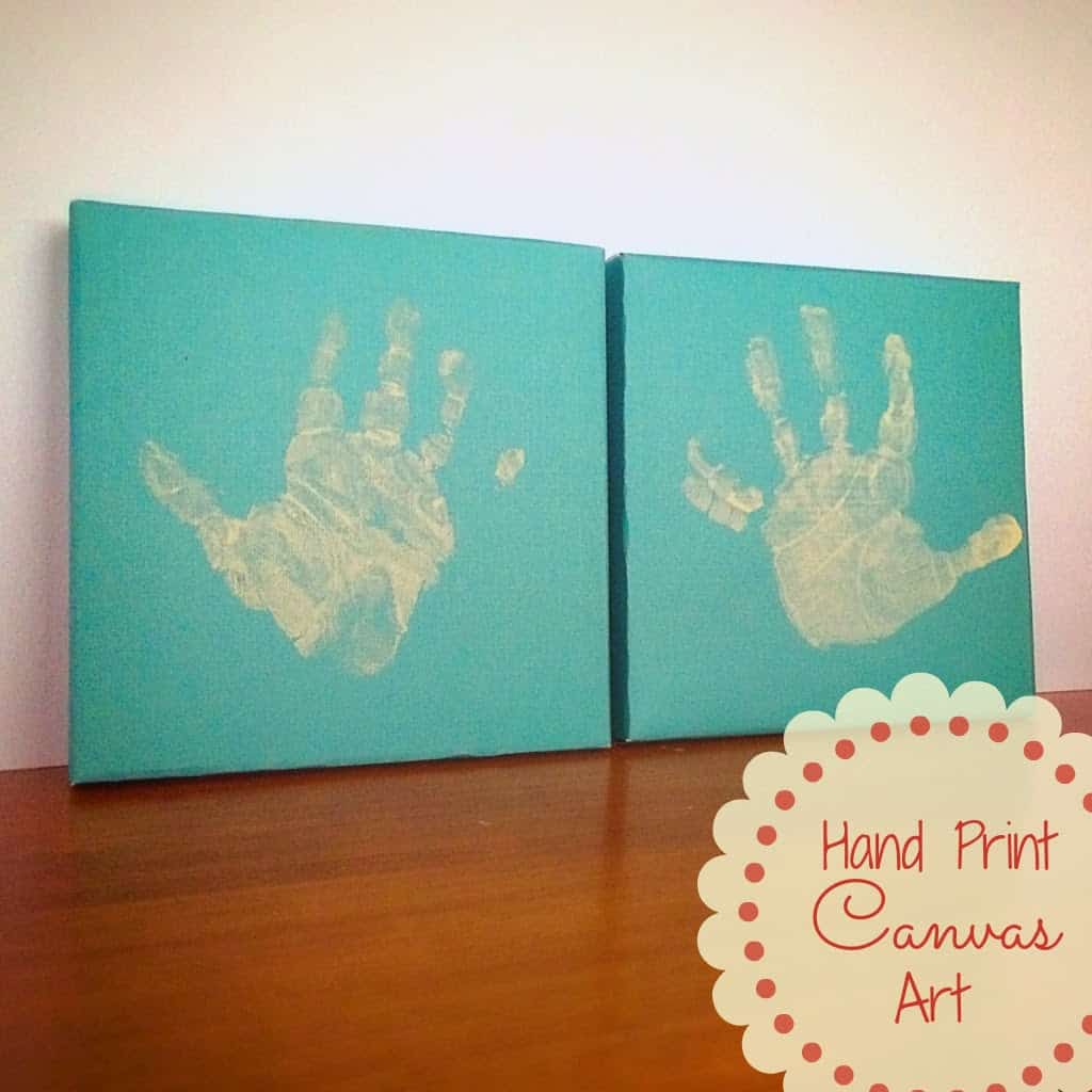 Hand Print Canvas Art
