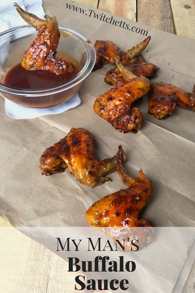 My Man's Buffalo sauce is perfect with wings, potatoes, rice, & more. This easy recipe only takes 4 ingredients. Perfect for any hot sauce loving crowd!