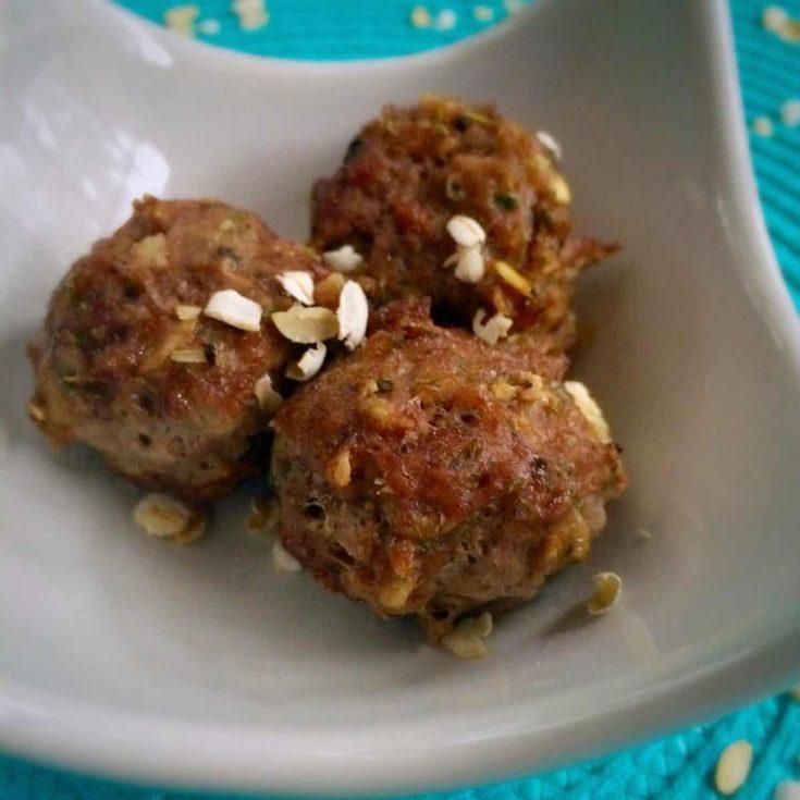 Gluten Free Meatballs ~ with Oatmeal!