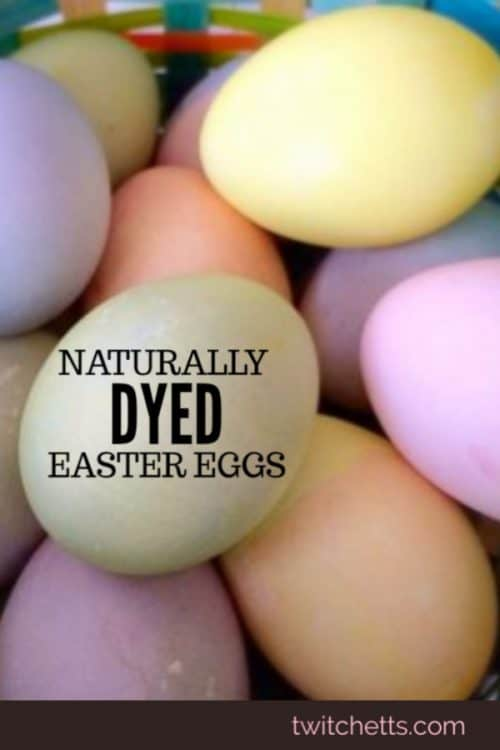 Naturally dyed Easter eggs.  Easter egg decorating with natural dyes. Quick tips that make natural dyes for eggs as easy as the egg dye kits from the store! #twitchetts