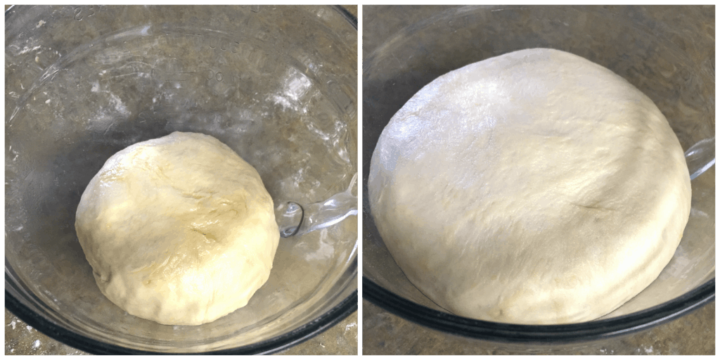 Learn the Secret to No Flop homemade Pizza Crust! This simple trick will have you make you a homemade pizza pro. Includes an easy pizza dough recipe too!