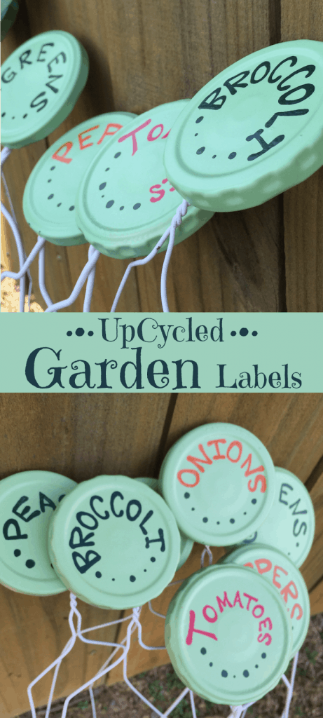 Label your fruits, veggies, and herbs with these cute upcycled garden labels.