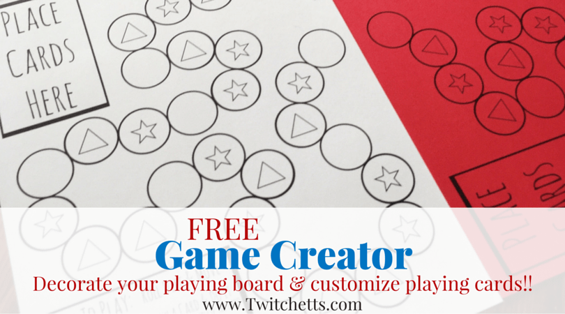 free printable homemade board game creator twitchetts