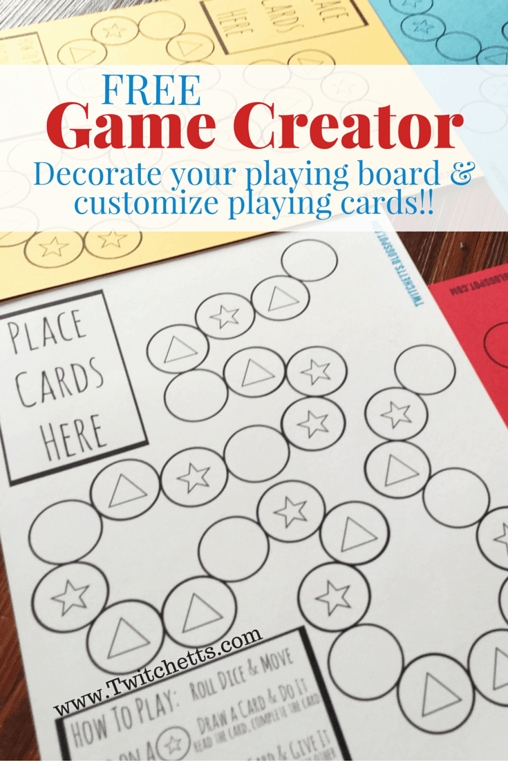 This fun Game Creator lets your kids make up the game. With fill in the blank cards you will have a blast with this get moving game!