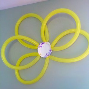 Summer Themed Birthday Celebration. Lots of fun party ideas! How to make a large balloon flower backdrop.