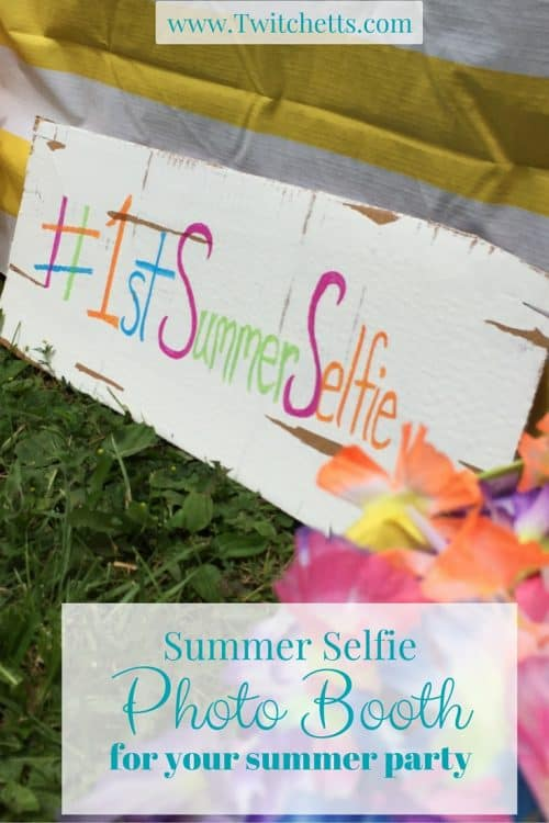 Summer Selfie Booth-Photo Booth Prop.  Perfect for a summer party.  Add dress up ideas and you have a fun summer time activity