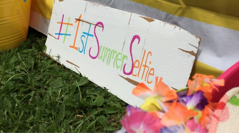 Summer Selfie Booth ~ A Party Activity