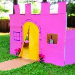 """Image of a castle made of cardboard. Text reads """"Princess CAstle. Cardboard Craft Ideas"""""""