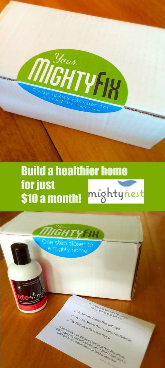 Build a healthier home, one month at a time.  Mighty Fix from Mighty Nest.