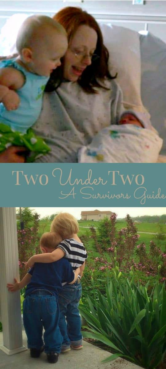 Two Under Two-Real tips for surviving baby bunching 2 under 2, from someone who's done it.
