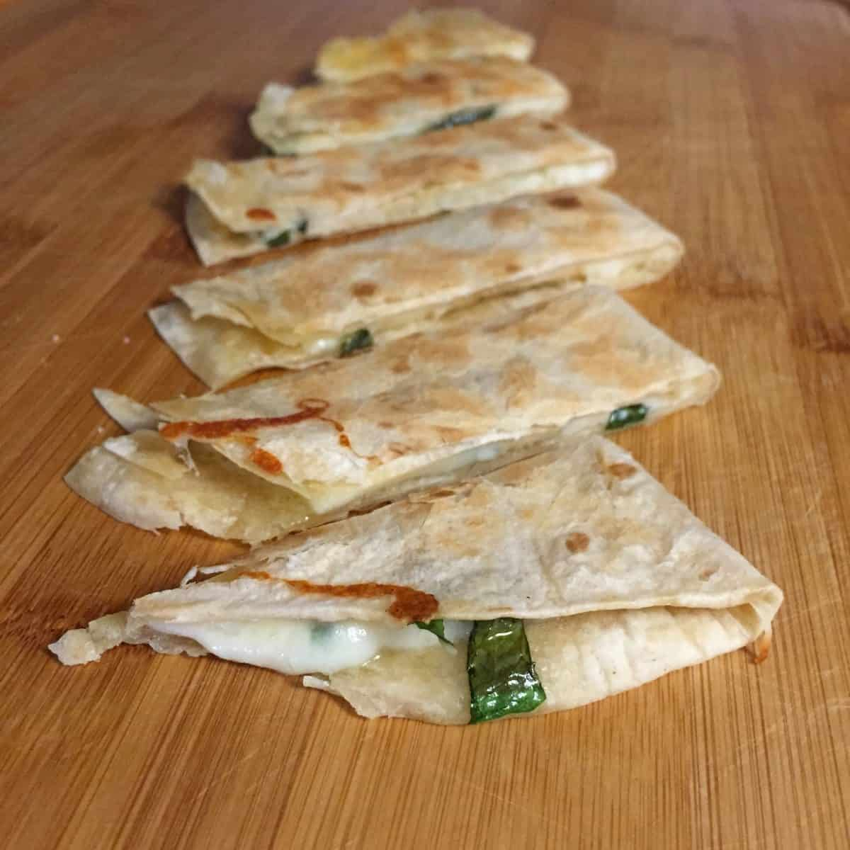 Waste Free Lunch inspiration ~ Pizza Quesadillas