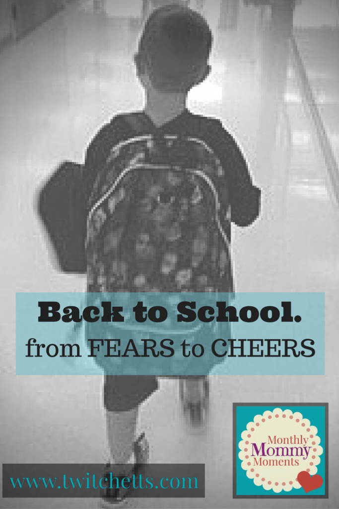 The emotional roller-coaster that comes each year a new school year begins. Back to school from fears to cheers.