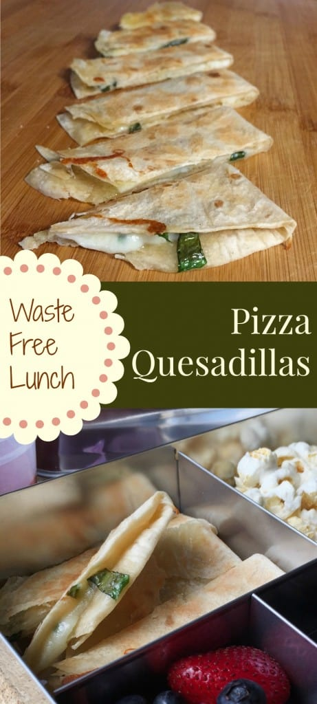 Waste free lunchbox ideas. Pizza Quesadillas and Gamer Carrots! Make a fast fun lunch for your kids.