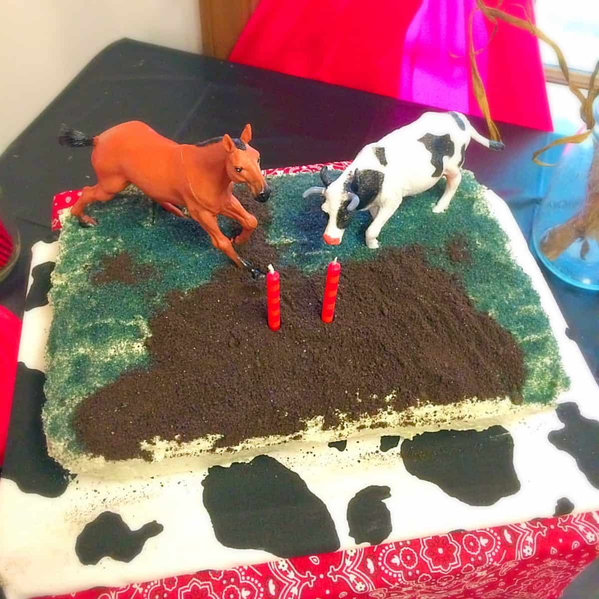 Farm Animal Birthday Party. Decoration ideas, farm food, activity, and fun drinks! Cake