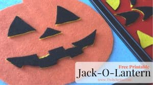 Use this Free Jack-O-Lantern Printable for a template to create a fun felt pumpkin kids activity!