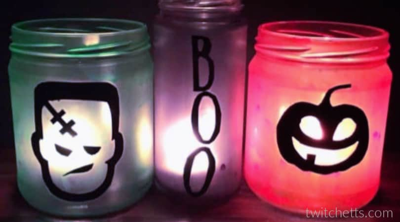 How to make fun decorative Halloween jars