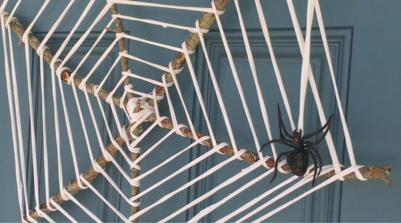 How to make an amazing spider web wreath