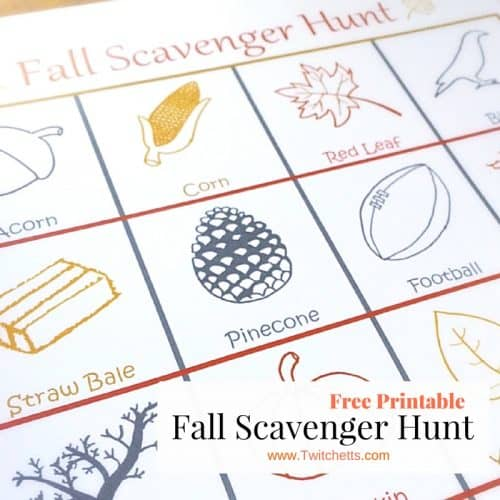 Grab you free fall scavenger hunt for a fun kids activity. Take a walk around the block and see how many things you can find!