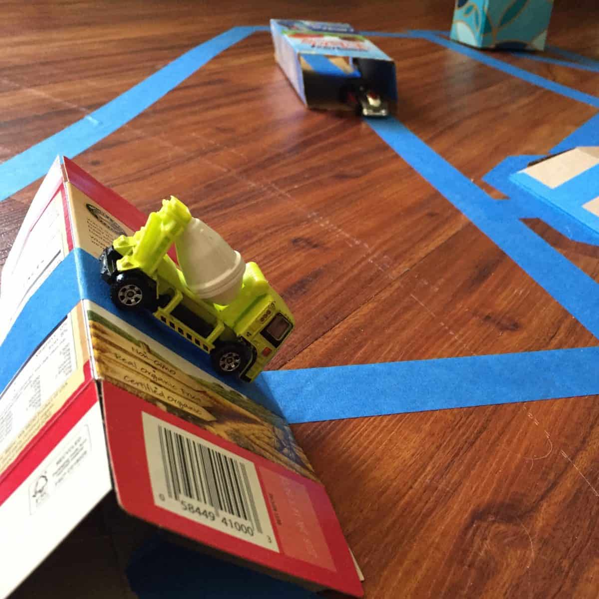 Make your Tape Track epic with these fun and easy recyclable track Add-Ons. Give those toy cars someplace new to play!