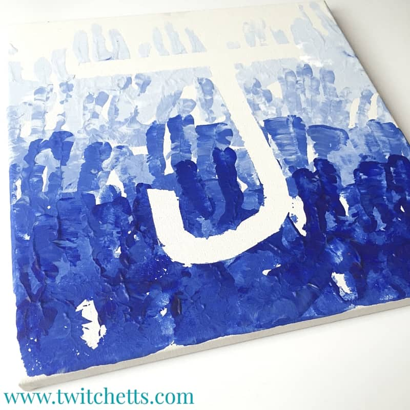 Kid's Ombré Hand Print Art