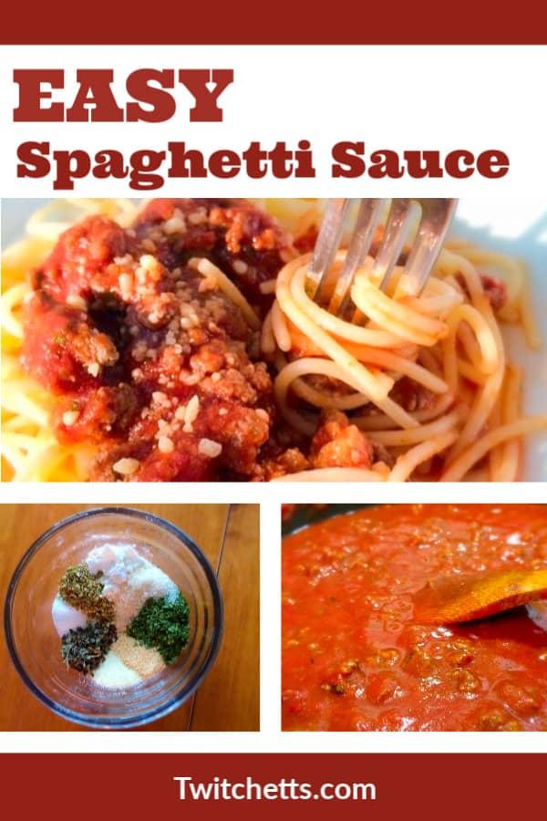 Spaghetti sauce easy