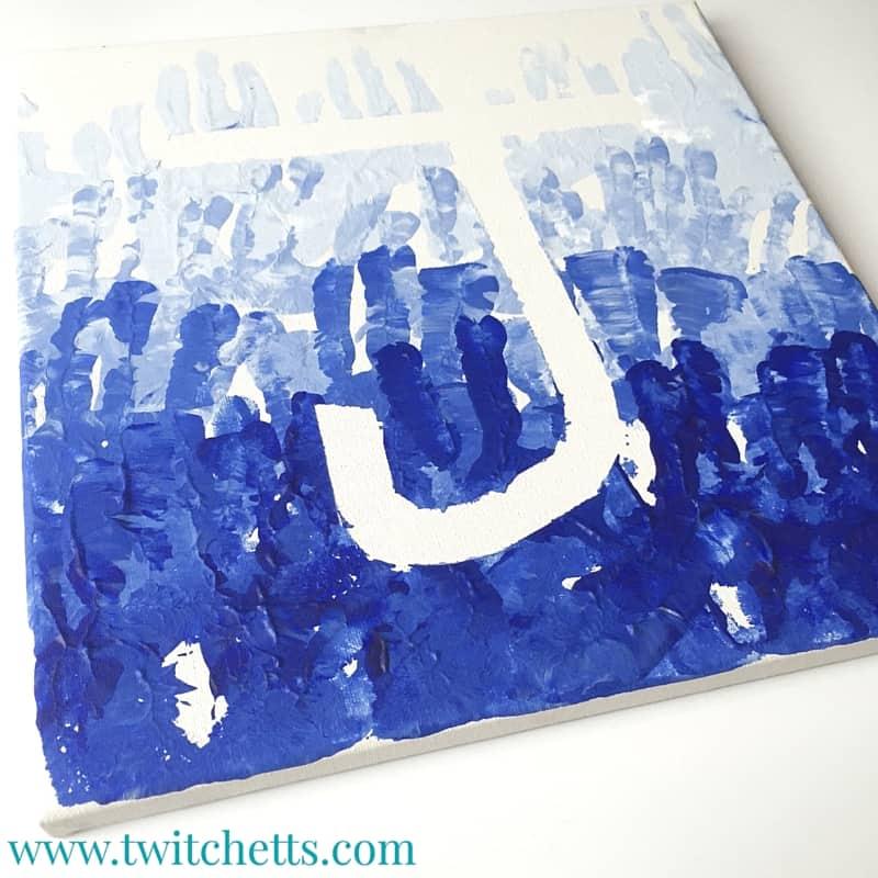 Ombre Hand Print Art