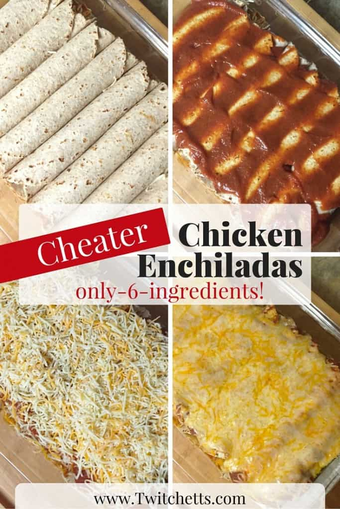 These cheater chicken enchiladas are a great go to meal. You can make extra and freeze them too!